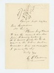 1862-09-24  C.P. Brown requests pay due Julia A. Moore, mother of A.V. Moore