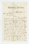 1862-09-29  N.K. Sawyer recommends A.K. Mirick [Myrick?] for position in a new regiment