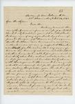 1863-02-14  S.B. Morison requests an assistant surgeon for the regiment