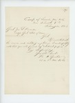 1863 02-20  H.F. Gould requests his enlistment papers from Adjutant General Hodsdon