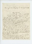 1863-02-26  Leonard D. Carver thanks George W. Brown for his offer