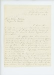 1863-03-02  J.G. Patten recommends John Sawyer for promotion