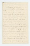 1862-10-11  Caleb S. Frost requests discharge from service