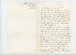 1862-10-13  John Bridges writes regarding Lieutenant George Brown
