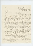 1862-10-16  George W. Brown writes to Governor Washburn