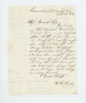 1862-10-17  Ariel H. Ward requests his descriptive list, being sick in hospital