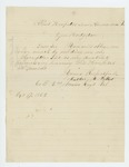 1862-10-17  Luther M. Pollard requests his descriptive list be sent to him in hospital