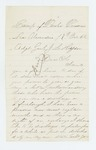 1862-10-17  S. Morris requests a discharge