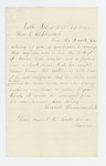 1862-10-22  Samuel Hunnerwell requests a furlough for his son to see his ill mother