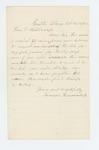 1862-10-29  Samuel Hunnerwell writes regarding a month furlough for his son