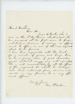Undated - William Pitcher recommends James E. Doak for promotion to a new regiment being formed