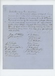 Undated - A.D. Bean and citizens of Belfast recommend promotion of Sergeant Sheridan Miller to Lieutenant