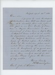 1861-04-21  H.W. Cunningham requests a commission as Major in return for raising 2 companies of volunteers