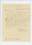 1861-04-22  Henry W. Cunningham asks Adjutant General Hodsdon about weapons and uniforms for recruits