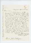 1861-04-23  Henry Cunningham inquires about pay and requests amendment of law to waive 10-day notice before election of officers