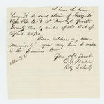 1861-04-25  Attorney O.G. Hall requests bounty payment for Private George H. Tighe of Company B