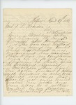 1861-04-29  Thomas H. Marshall writes Adjutant General Hodsdon about his offer of service