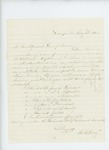 1861-05-08 R.H. Gray of Captain Nickerson's company requests clarification on rate of pay for volunteers by R. H. Gray