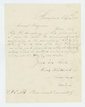 1861-04-25  Ebenezer Whitcomb requests uniforms and other supplies for Company D