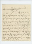 1861-05-14 Colonel Hiram Berry writes Governor Washburn regarding supplies by Hiram Berry
