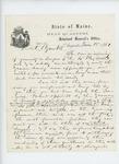 1861-06-18  Adjutant General Hodsdon requests Dr. W.A. Banks return his commission immediately