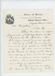 1861-06-18  Adjutant General Hodsdon requests Dr. Hopkins return his commission immediately