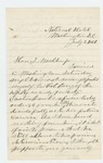 1861-07-02  Dr. S.C. Hunkins requests assistance from Governor Washburn regarding refusal of W.A. Banks to obey orders