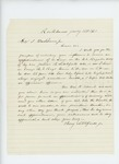 1861-07-16  Benjamin Litchfield Jr. solicits an appointment for his son Julius B. Litchfield of Company B
