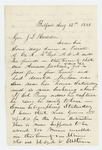 1861-08-12  J.D. Tucker reports that deserter Amasa Jackson has been sighted in Belfast