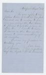 1861-08-20  W.R. Benson writes Adjutant General Hodsdon requests position in regiment