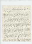 1861-08-22   J.D. Tucker writes General Hodsdon regarding deserters Otis Heal, Bickford Overlock, Jonas Snow and others