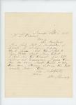 1861-09-06  Captain Howes writes regarding bill for transportation