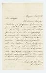 1861-09-09  Joseph Baker forwards a request for extended furlough for Charles E. Gove