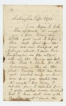 1861-09-15  Unknown soldier writes to wife about his service