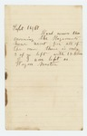 1861-09-16  Letter fragment from unidentified wagon master