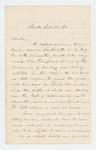 1861-09-24  Woodbury Davis requests that his nephew Lieutenant George Davis be transferred to the cavalry