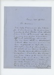 1861-09-27  W.H. McCrillis recommends George F. Brown for Lieutenant in the 11th Regiment