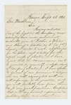 1861-09-28  George F. Bourne requests a position as lieutenant