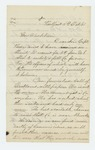 1861-10-05  Lieutenant R.H. Gray writes Governor Washburn about recruitments