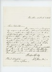 1861-10-08  S.C. Hunkins requests position as examining surgeon