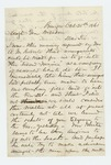 1861-10-25  William L. Pitcher says he is not interested in joining the 2nd Regiment