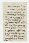 1861-11-05  G.J. Burns of Company H requests information on his dishonorable discharge and blames Colonel Berry