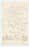 1861-11-21   Isaac Prince, drum major, acknowledges receipt of Adjutant General's letter
