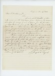 1861-11-27  Joseph Noyes recommends L.B. Bisbee for position as Adjutant
