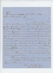 1861-12-31  E.W. Stetson recommends return of Captain Whitehouse to the regiment