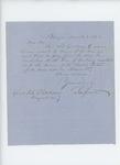 1862-03-08  Samuel Jewett [Jewell?] requests payment information on behalf of Mr. Rose