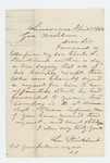 1862-04-01  Lee Strickland writes Governor Washburn regarding the petition for promotion of his son Charles