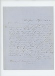 1862-04-08  Dr. John Benson declines appointment as surgeon due to difficulties at home