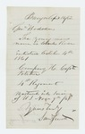 1862-04-16  Samuel Jewett requests information on Charles Rose of Company H
