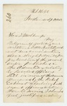 1862-04-18  Dr. S.C. Hunkins requests a return to the regiment having been released on parole